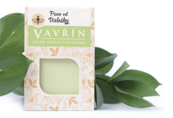 Přírodní solné mýdlo s vavřínovým olejem Vavřín Přímo od Včelařky zabaleno v krabičce
